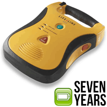 Defib AED Lifeline 7 year batDefibtech Lifeline AED with High Capacity 7 Year Battery