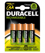 Duracell Rechargeable Batteries AA x 4