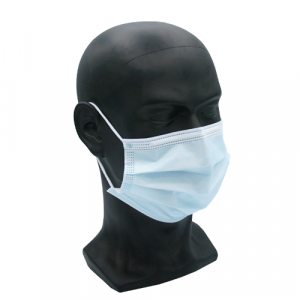 Type IIR Fluid Repellent 3-ply Surgical Face Mask x 50 side corner