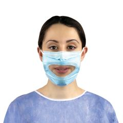 Smile Shield Type IIR Surgical Mask with Clear Panel x 50