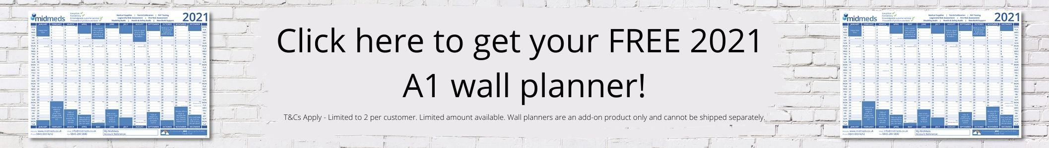 Free Wall Planner Banner 2021